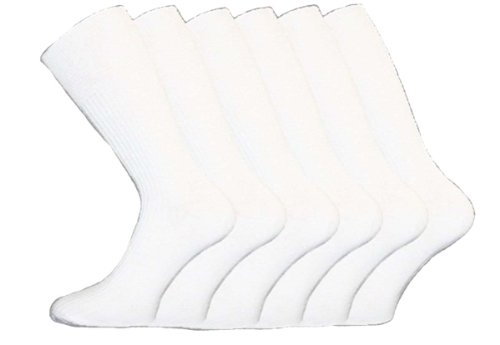 i-Smalls Herren Aler 12er Pack Non Elastische Baumwolle Socken (Weiss) 45-49