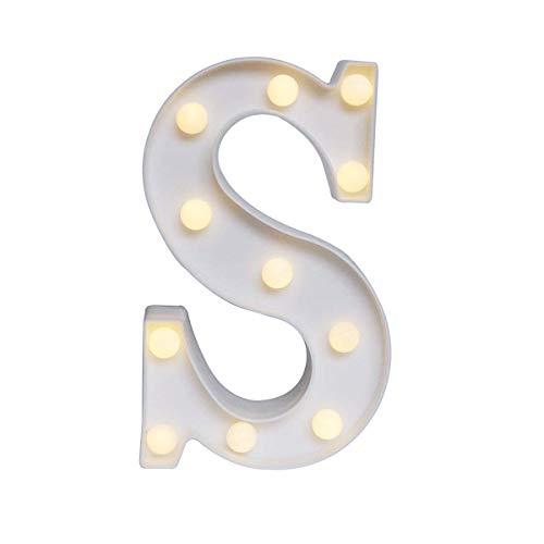 Letras luminosas con letras LED de alfabeto, luz blanca cálida, letras de luz nocturna para el hogar, fiesta, bar, boda, festival, decoración