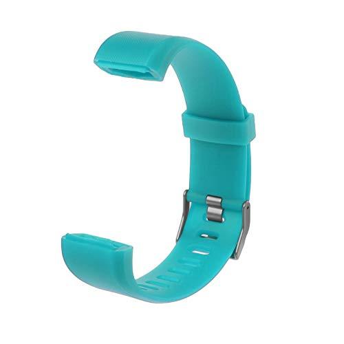 Ersatzarmband aus Silikon, kompatibel mit ID115 Plus Smartwatch, grün, Wie Gezeigt
