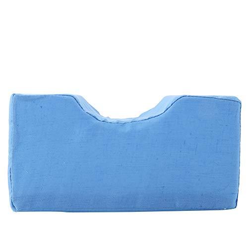 Cojín de espuma, extraíble 2 colores Alivia la fatiga Cuero de PU Eleva las piernas Cojín de cuña Cojín de soporte de esponja(azul, Los 20 * 10 * 10cm)