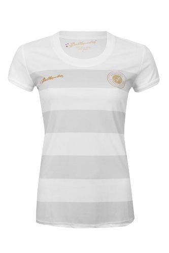 Ballzauber 4Maglietta di Sport per Donna, Donna, Trainingsshirt 4, Bianco, M