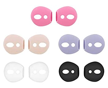 IiEXCEL Fit in Case Eartips for AirPods 5 Pairs Replacement Super Thin Slim Silicone Earbuds Ear Tips Covers Skin Accessories for Apple AirPods 1 AirPods 2  Fit in Charging Case  5 Colorful