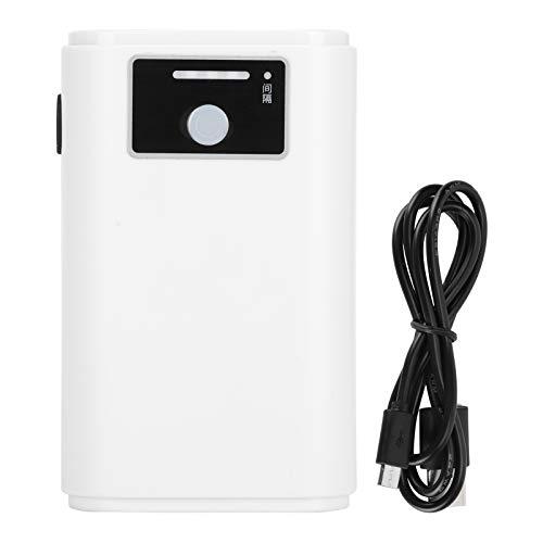 Atyhao Bomba de Aire para acuarios, Bomba de oxígeno Ultra silenciosa Recargable por USB con Pantalla de energía para pecera, Pesca al Aire Libre, Transporte de Peces(Salida Doble)