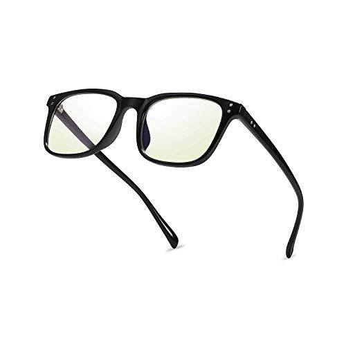 Blaues Licht Blockieren Gläser, Mloz Blaulicht Filter Computer-Brille, Anti Eyestrain Vintage Square Frame Brillen für Frauen Männer (Quadrat schwarz)