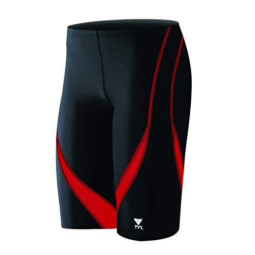 TYR Alliance Splice Jammer Swimsuit, Black/Red, Size 32