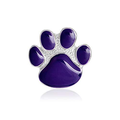 Hunde-Brosche mit niedlicher Emaille, Cartoon-Hundepfoten-Motiv, Unisex, Legierung, Schmuck, Geschenk, Abzeichen, Dekoration, Blau