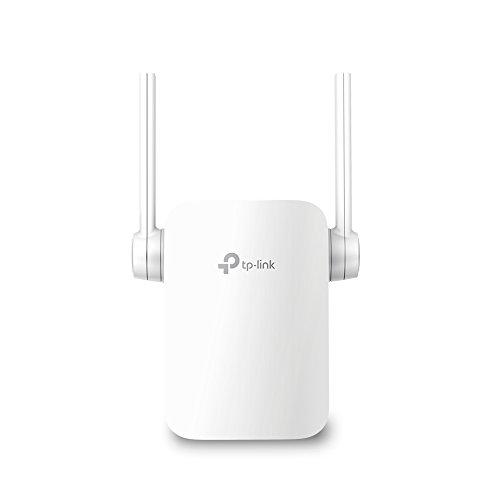 TP-Link RE205 AC750 WLAN Repeater (Dual WLAN AC+N, 750Mbit/s, App Steuerung, 1 Port, 2x flexible externe Antennen, WPS, AP Modus, kompatibel zu allen WLAN Geräten) weiß