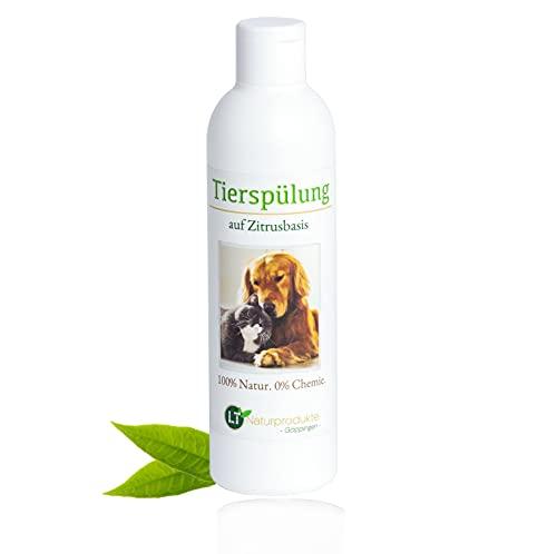LT-Naturprodukte - Acondicionador para el cuidado de animales (sin productos químicos ni jabones, hipoalergénico, base cítrica, 250 ml)
