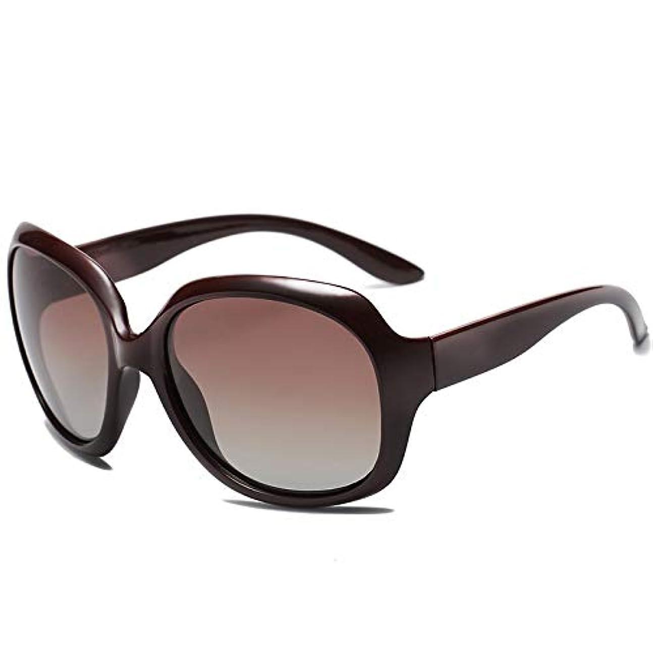 リハーサル増加する電気的Fashion 偏光サングラスブラックフレームオープンサングラスビッグフレームレトロサングラスアイウェア Eyewear