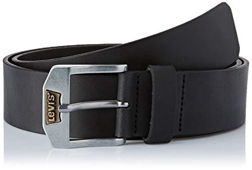 Levi's Herren New Legend Gürtel, Schwarz (Black), 110 cm (Herstellergröße: 110)
