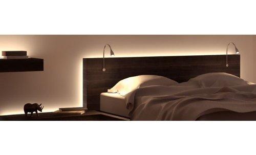 2 er Set flexible LED Leseleuchte, Spotlampe, Bettleuchte, Nachttischlampe inkl. 12V Netzteil