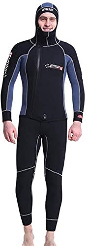 Traje de buceo para hombres 5 mm neopreno con capucha con capucha con capucha con capucha engrosada en traje de baño en espesado traje de baño traje de baño para buceo de buceo natación surf.-MET