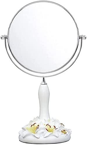 LYQQQQ Espejo de vanidad de Maquillaje de Resina, Espejo de Mesa cosmético de Doble Cara con ampliación de 1x / 3X (Size : 30 * 14.5cm)