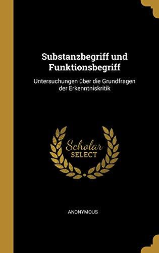 GER-SUBSTANZBEGRIFF UND FUNKTI:...