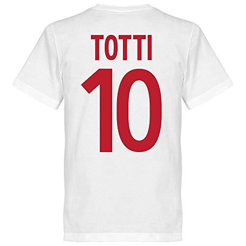 Roma Vintage Totti 10 Team - Camiseta de Manga Corta, Color Blanco,...