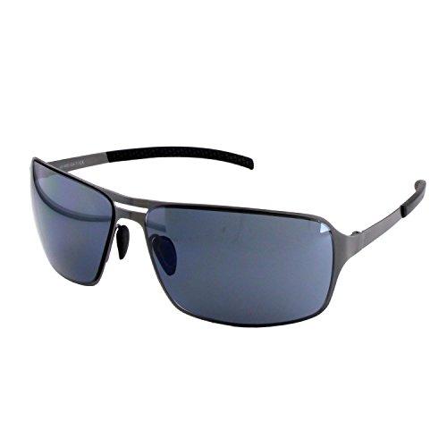 ActiveSol Occhiali da sole HYPERION da uomo | antracite/marrone/nero | a specchio/non a specchio | protezione UV 400 | montatura di metallo (anthracite with back lenses)