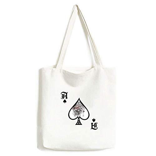 Graffiti Street Pirat Ruder Totenkopf Muster Handtasche Craft Poker Spaten waschbare Tasche