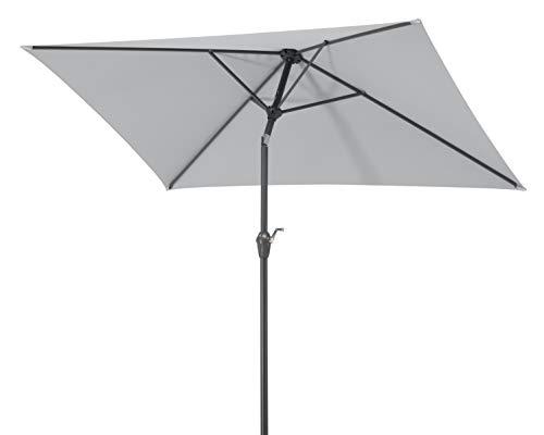 Schneider-Schirme Bilbao 210 x 130 cm Sonnenschirme, silbergrau