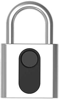 Fingerprint Padlock with Rechargeable Battery/Security Keyless Lock with Fingerprint Unlock/Combination Padlocks for Door Luggage Case