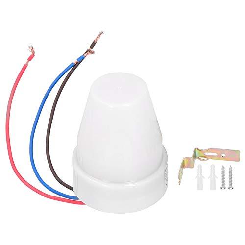 Labuduo Interruptor con sensor de luz, práctico interruptor de luz automático, mando a distancia, alta sensibilidad, para Garden Street Light LED