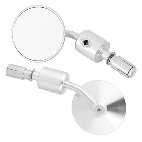 Espejo lateral, aleación de aluminio, espejos laterales para motocicleta, espejo para motocicleta, para bicicleta de calle