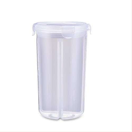 iShine Boîtes de Conservation à Céréales Fruits Récipients Hermétiques de Nourriture en Plastique Transparent en Quatre Parties Jar