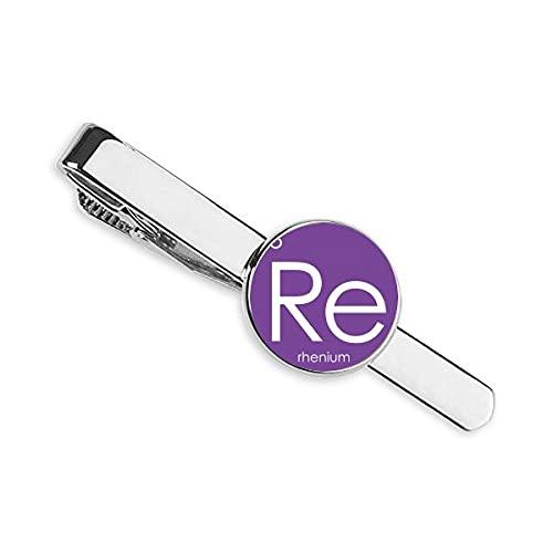 Química Elementos Período Mesa Transición Metales Renio Re Corbata Clip Bar Regalo Hombre de Negocios