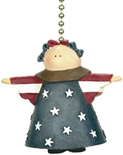 Country Flag AMERICANA ANGEL ceiling Fan Pull chain New