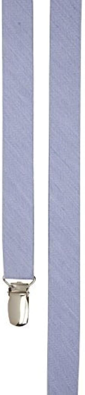 The Tie Bar Linen Row Light bluee Skinny Suspenders