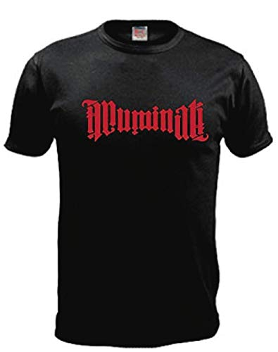 Camiseta Illuminati Niños Chicos Chicas Unisexo Camiseta (L, Rojo)