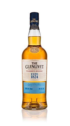 The Glenlivet Founder's Reserve Whisky Single Malt Escocês, Dourado, 750 ml