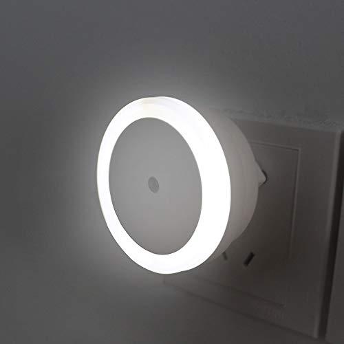 LED Nachtlichtje Lamp EU-stekker Sensor Wandlamp Automatisch Licht 0,5W Sensor voor Slaapkamer Goed voor Baby Jongen Meisje