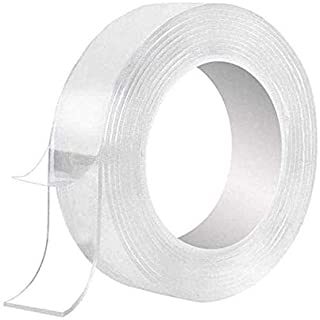 Multipurpose Washable Double Sided Adhesive Tape nano Tape, Reusable Adhesive Silicone Tape for Walls, Kitchen, Carpet Fix...