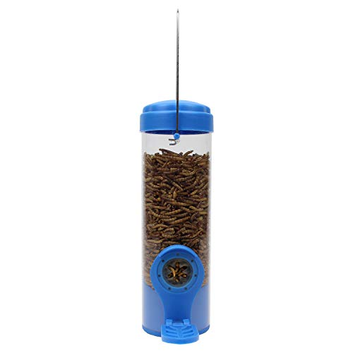 Perky-Pet 388F Dried Mealworm Bird Feeder with Flexports
