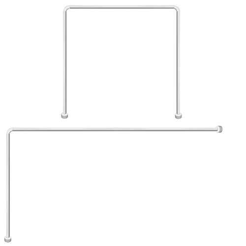Maurer 4042202 - Barra para cortina ducha, Universal, Aluminio, Blanco 80 x 170 cm