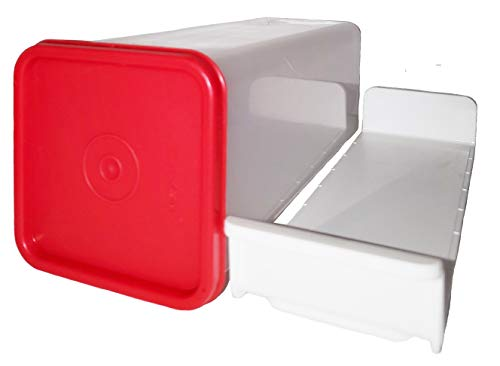 Tupperware Cheese Keeper Clear with Popsicle Red Seal