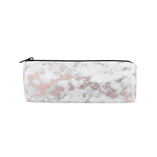 KUWT Pencil Bag Marble Pattern, Pencil Case Pen Zipper Bag Pouch Holder Makeup Brush Bag for School Work Office