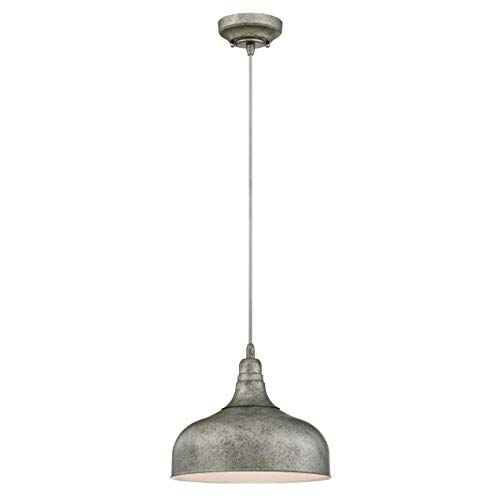 Westinghouse Lighting One-Light Indoor Pendant Lampara de Techo, Acero Envejecido