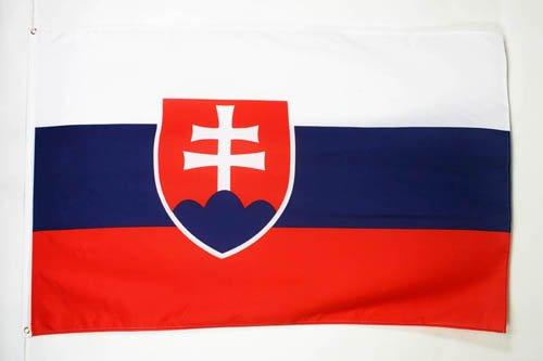 AZ FLAG Flagge SLOWAKEI 150x90cm - SLOWAKISCHE Fahne 90 x 150 cm feiner Polyester - flaggen
