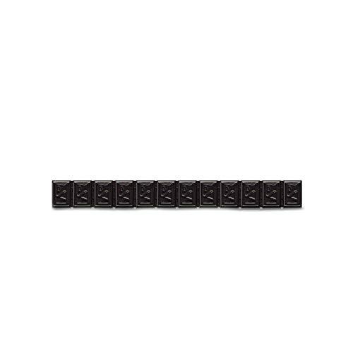 6x Klebegewichte schwarz Alufelgen Typ380 60g Hofmann Power Weight, Wuchtgewichte schwarz, Auswuchtgewichte Klebegewichte Alufelge Leichtmetallfelge