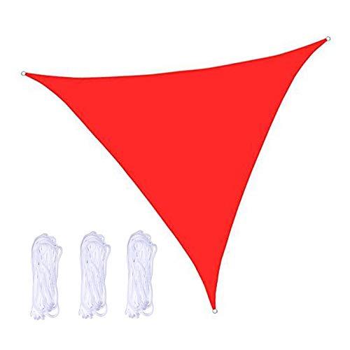 QWESHTU Toldo Vela de Sombra triángulor, Transpirable Se instala fácil en Fachada Exterior, Terraza, Jardín, Pérgola, Patio o Balcón Toldo Completo