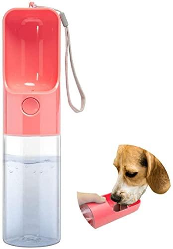 ZYW Botella de agua portátil para mascotas, para perros, gatos, bebidas, bebidas, para mascotas, mascotas, color rosa