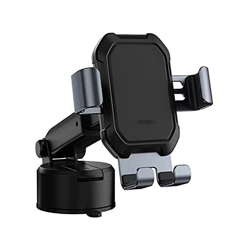 JIAOJIAO HAN-Store Soporte de teléfono de la Gravedad Soporte de succión Soporte Universal Ajustable en el Coche GPS Mount Fit para iPhone 12 11 Pro MAX Xiaomi 9 (Color : Black)