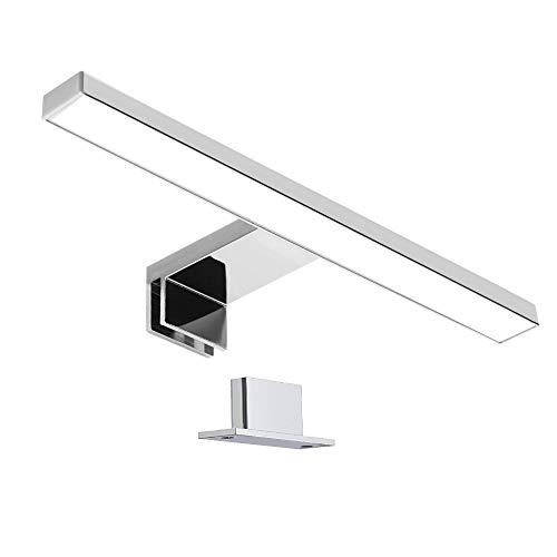 Galapara Aplique Espejo Baño LED, Luz Espejo Baño 30.0 * 10.2 * 4.0cm, Lámpara de Espejo Led 6000K 400lm Lámpara de Espejo Baño LED Fije en el Espejo +en el Gabinete+en la Pared