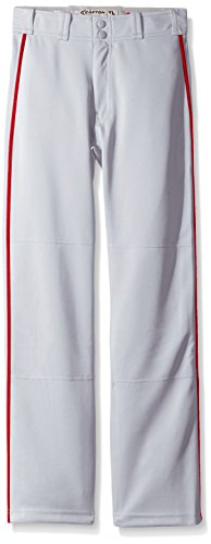 EASTON MAKO 2 Baseball Pant, Youth, Medium, Grey/Red