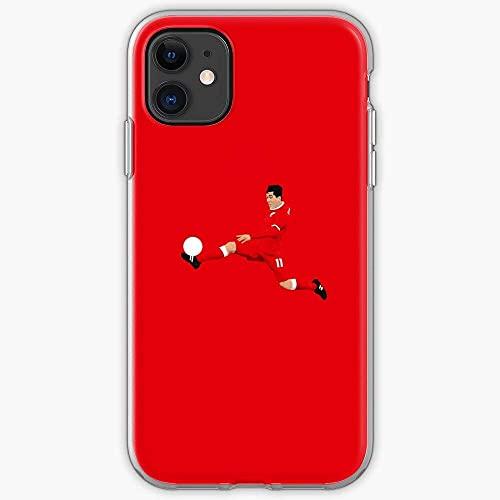Compatibile con iPhone 12/11 Pro Max 12 mini SE X/XS Max XR 8 7 6 6s Plus Custodie Soccer Firmino Liverpool LFC Sport Football Calcio Foot Custodie per Telefoni Cover