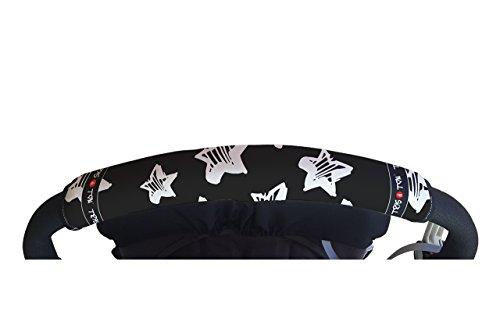 Tris&Ton Fundas empuñaduras horizontales Modelo Estrellas, empuñadura funda para silla de paseo cochecito carrito carro (Tris y Ton)
