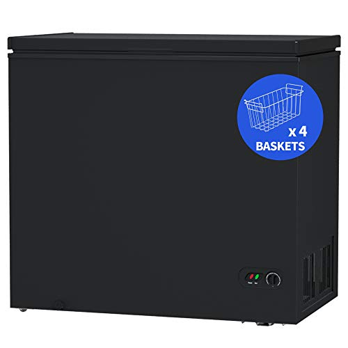 ADT Chest Freezer Free-Standing Freezers 6.8℉ to -4℉ (Black, 7.0 Cubic Feet)