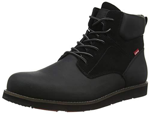 LEVIS FOOTWEAR AND ACCESORIOS JAX PLUS, zapatillas de hombre, negro brillante, 42