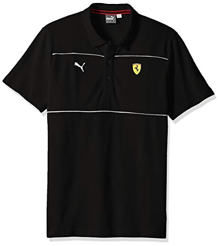 PUMA Men's Scuderia Ferrari Polo, Soft Pink Black, L